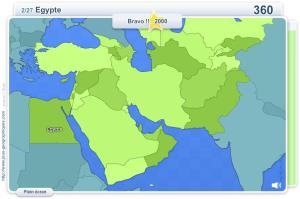 Pays du Moyen-Orient, Caucase et Asie centrale. Jeux géographiques