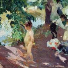 El baño en La Granja