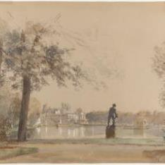 Vista del castillo de Fontainebleau