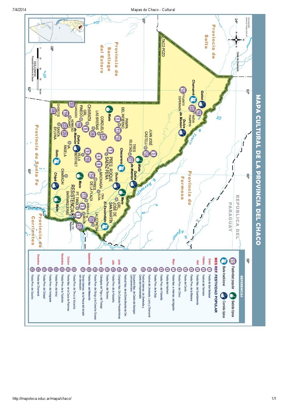 Mapa cultural del Chaco. Mapoteca de Educ.ar