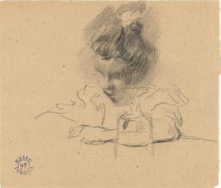 María leyendo