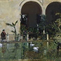 Estanque en los jardines del Alcázar de Sevilla