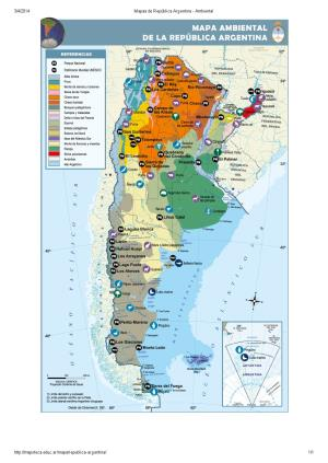 Mapa ambiental de Argentina. Mapoteca de Educ.ar