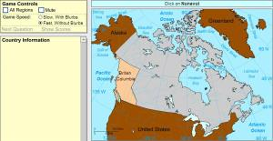 Provinces of Canada. Intermediate. Sheppard Software