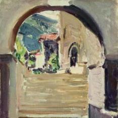 Escalera de la Iglesia del Roncal