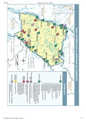Mapa histórico de Corrientes. Mapoteca de Educ.ar