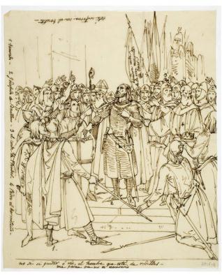 Godofredo de Buillon proclamado rey de Jerusalén