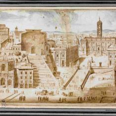 Vista del Capitolio en Roma