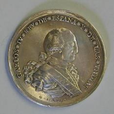 Medalla de la proclamación de Carlos IV en Queretaro