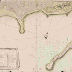 Plano del Puerto y Muelle de la Plaza de Malaga
