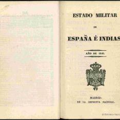 Estado militar de España é Indias