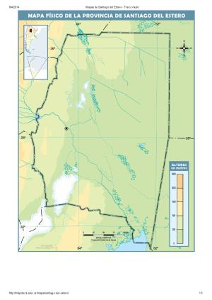 Mapa mudo de ríos de Santiago del Estero. Mapoteca de Educ.ar