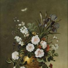 Florero y cuenco de cerámica