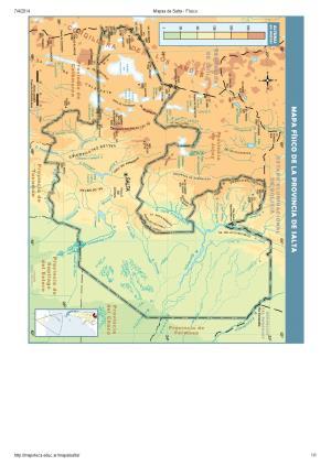 Mapa de ríos de Salta. Mapoteca de Educ.ar