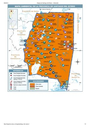 Mapa ambiental de Santiago del Estero. Mapoteca de Educ.ar