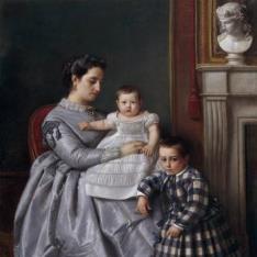 Retrato de la familia del pintor