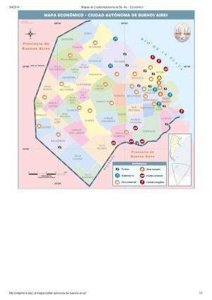 Mapa económico de la ciudad de Buenos Aires. Mapoteca de Educ.ar
