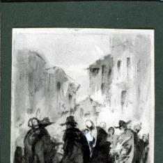 Grupo de hombres conversando en una plaza