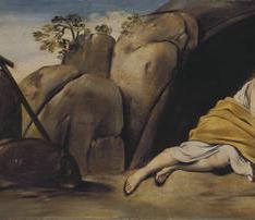 La Magdalena penitente en la gruta de Sainte-Baume