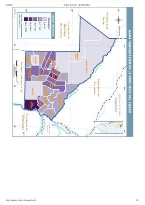 Mapa demográfico del Chaco. Mapoteca de Educ.ar
