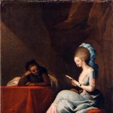 Dama leyendo una carta