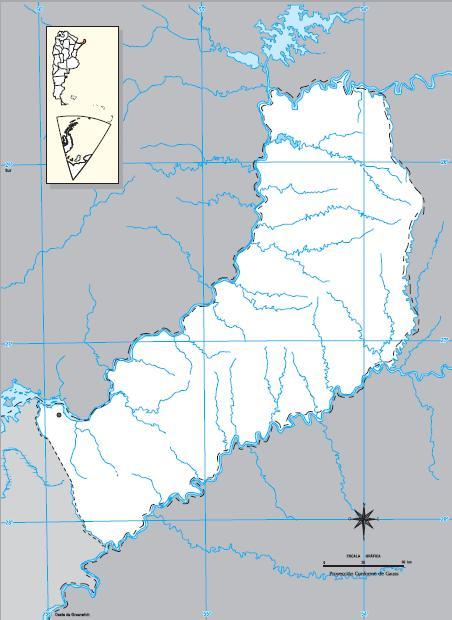 Mapa mudo de Misiones. IGN de Argentina