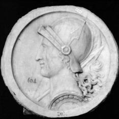 Cabeza de personaje femenino, Minerva o Roma