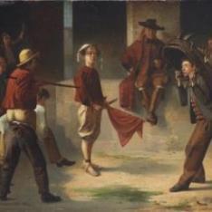 Niños jugando a los toros