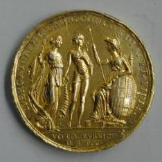 Medalla conmemorativa del viaje de Carlos IV y María luisa a la ciudad de Barcelona en 1802