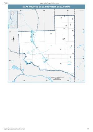 Mapa mudo de capitales de La Pampa. Mapoteca de Educ.ar