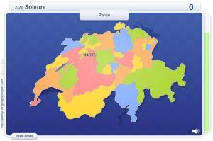 Cantons suisses. Jeux géographiques