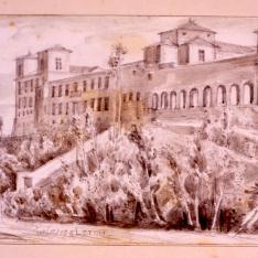 Vista del palacio ducal de Lerma, Burgos