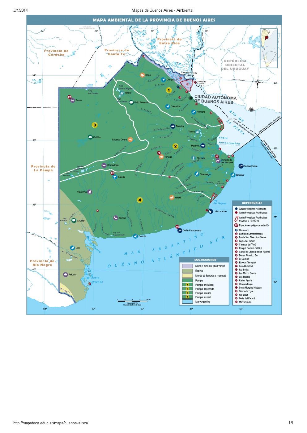 Mapa ambiental de Buenos Aires. Mapoteca de Educ.ar