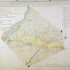 Plan Geographo del Terreno de parte de el Soto del Porcal y el de Pajares