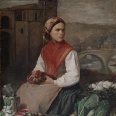 Aldeana vizcaína en el mercado