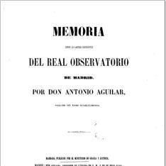 Memoria sobre la latitud geográfica del Real Observatorio de Madrid