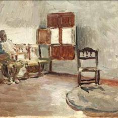 Interior con figura