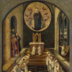 Aparición de la Virgen a una comunidad de dominicos