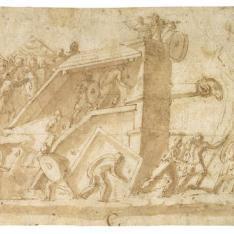 Soldados atacando una fortaleza
