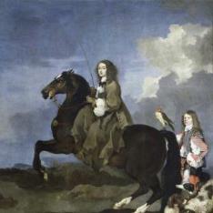 Cristina de Suecia a caballo