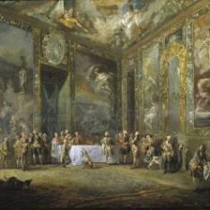 Carlos III, comiendo ante su corte