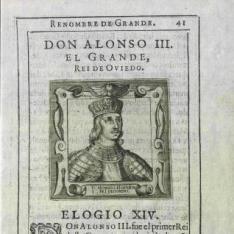Retrato de Alfonso III, Rey de Asturias y León