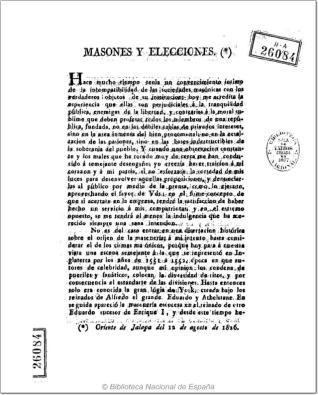 Masones y elecciones