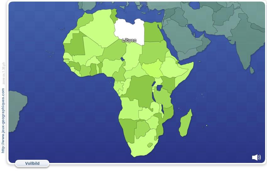 Geo Quizz Afrika. Geographie Spiele