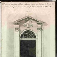 Portada de la Iglesia parroquial de la Villa de Vallecas