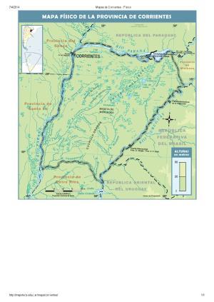 Mapa de ríos de Corrientes. Mapoteca de Educ.ar