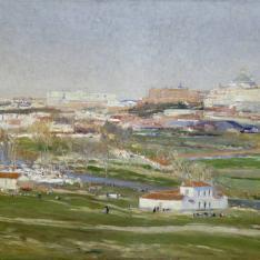 Vista de Madrid desde la Pradera de San Isidro.
