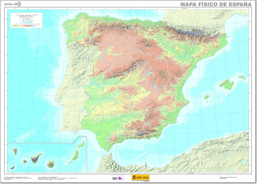 Mapa Fisico Mudo De Espana Mapa De Rios Y Montanas De Espana