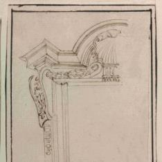 Estudio de ventana del Palacio Barberini]h[Material gráfico