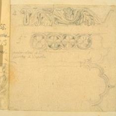 Detalles de las arquivoltas de la puerta del Monasterio de Veruela, Zaragoza